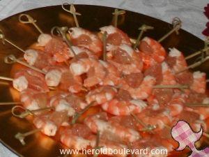 Brochettes de crevette au pamplemousse
